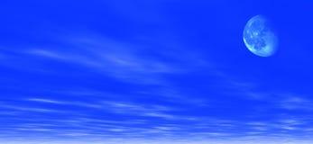 σεληνόφωτο ανασκόπησης απεικόνιση αποθεμάτων