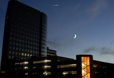 σεληνόφωτο πόλεων Στοκ Εικόνες
