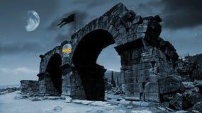 σεληνόφωτο φρίκης Στοκ Εικόνες
