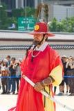 ΣΕΟΥΛ, ΝΟΤΙΑ ΚΟΡΕΑ May 28, 2017 Η βασιλική φρουρά του παλατιού Gyeongbokgung Στοκ φωτογραφίες με δικαίωμα ελεύθερης χρήσης