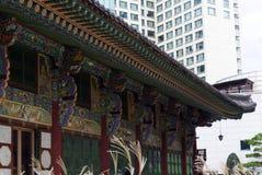 ΣΕΟΥΛ ΝΟΤΙΑ ΚΟΡΕΑ - 22 ΟΚΤΩΒΡΊΟΥ 2017: Φεστιβάλ χρυσάνθεμων στο ναό jogyesa στη Σεούλ, Νότια Κορέα Στοκ Εικόνες