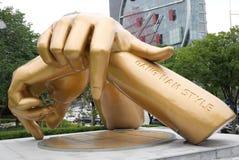ΣΕΟΥΛ, Νότια Κορέα, στις 27 Αυγούστου 2017, άγαλμα ύφους Gangnam μπροστά από τη λεωφόρο coex Στοκ Εικόνες