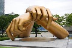 ΣΕΟΥΛ, Νότια Κορέα, στις 27 Αυγούστου 2017, άγαλμα ύφους Gangnam μπροστά από τη λεωφόρο coex Στοκ εικόνα με δικαίωμα ελεύθερης χρήσης