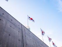 Σεούλ, Νότια Κορέα - 16 Απριλίου 2018: Σχέδιο Plaza DDP Dongdaemun ανθρώπων και επισκέψεων touristor Νεώτερος και πιό εικονικός ο Στοκ εικόνα με δικαίωμα ελεύθερης χρήσης