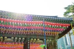 Σεούλ, Νότια Κορέα - 28 Μαΐου 2017: Ναός Jogyesa Στοκ φωτογραφία με δικαίωμα ελεύθερης χρήσης