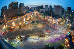 Nightview Σεούλ στοκ φωτογραφία με δικαίωμα ελεύθερης χρήσης