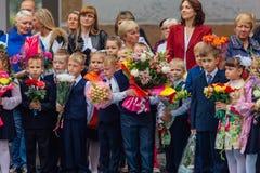 Σεπτέμβριος η πρώτος-ημέρα της γνώσης στη Ρωσία Στοκ εικόνα με δικαίωμα ελεύθερης χρήσης