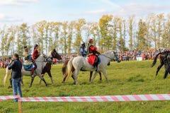 Σεπτέμβριος, 16 2017, Τούλα, Ρωσία - ο διεθνής στρατιωτικός και ιστορικός τομέας ` φεστιβάλ ` Kulikovo: θεατές και συμμετέχοντες Στοκ Φωτογραφίες