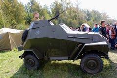Σεπτέμβριος, 16 2017, Τούλα, Ρωσία - ο διεθνής στρατιωτικός και ιστορικός τομέας ` φεστιβάλ ` Kulikovo: Κόκκινος στρατιώτης στρατ Στοκ εικόνα με δικαίωμα ελεύθερης χρήσης
