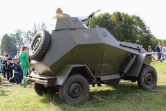 Σεπτέμβριος, 16 2017, Τούλα, Ρωσία - ο διεθνής στρατιωτικός και ιστορικός τομέας ` φεστιβάλ ` Kulikovo: Κόκκινος στρατιώτης στρατ Στοκ Φωτογραφίες