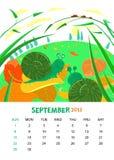 Σεπτέμβριος διανυσματική απεικόνιση