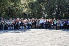 1 Σεπτεμβρίου είναι η ημέρα της γνώσης Στοκ φωτογραφία με δικαίωμα ελεύθερης χρήσης