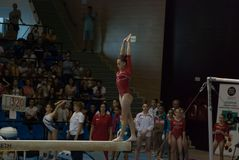 2 Σεπτεμβρίου 2017 εθνική γυμναστική γυναικών Ploiesti Ρουμανία Στοκ Εικόνες