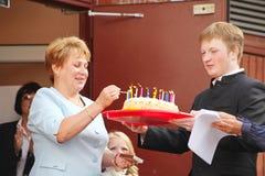 1 Σεπτεμβρίου, ημέρα γνώσης στο ρωσικό σχολείο Ημέρα της γνώσης ημερήσιο πρώτο σχολείο Στοκ Φωτογραφίες