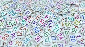 27 Σεπτεμβρίου ημερομηνία στο ημερολογιακό φύλλο μεταξύ άλλων φύλλων,  απεικόνιση αποθεμάτων
