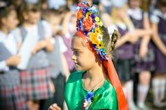 1 Σεπτεμβρίου μαθήτρια Στοκ Φωτογραφίες