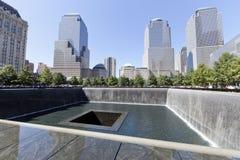 11 Σεπτεμβρίου μνημείο - πόλη της Νέας Υόρκης, ΗΠΑ Στοκ εικόνες με δικαίωμα ελεύθερης χρήσης
