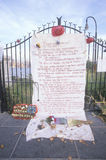 11 Σεπτεμβρίου 2001 μνημείο στη στέγη που κοιτάζει πέρα από Weehawken, πόλη του Νιου Τζέρσεϋ, Νέα Υόρκη, Νέα Υόρκη Στοκ φωτογραφίες με δικαίωμα ελεύθερης χρήσης
