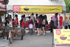 27 Σεπτεμβρίου 2016, Malacca, Μαλαισία Το κούνημα καρύδων Klebang ήταν το πιό ζεστό ποτό στο melaka σήμερα και αυτό το κατάστημα  Στοκ Εικόνα
