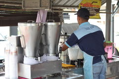 27 Σεπτεμβρίου 2016, Malacca, Μαλαισία Το κούνημα καρύδων Klebang ήταν το πιό ζεστό ποτό στο melaka σήμερα και αυτό το κατάστημα  Στοκ Φωτογραφία