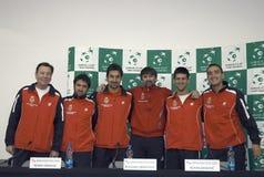 Σερβική ομάδα του Davis Cup Στοκ Εικόνες
