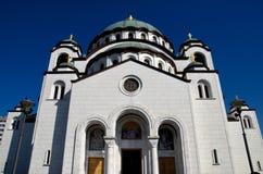 Σερβική ορθόδοξη εκκλησία καθεδρικών ναών του ST Sava Βελιγράδι Σερβία Στοκ Εικόνες
