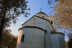 Σερβική Ορθόδοξη Εκκλησία (Μαυροβούνιο, Ulcinj, χειμώνας) Στοκ φωτογραφία με δικαίωμα ελεύθερης χρήσης