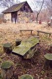 Σερβικός παλαιός παραδοσιακός εγχώριος κήπος Στοκ Εικόνα