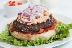 Σερβικό burger pljeskavica Στοκ Εικόνα
