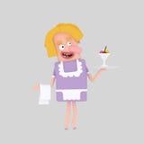 Σερβιτόρα που ένα παγωτό Στοκ Εικόνες