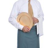 σερβιτόρος δίσκων πετσετών Στοκ φωτογραφία με δικαίωμα ελεύθερης χρήσης