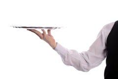 σερβιτόρος δίσκων χεριών Στοκ φωτογραφίες με δικαίωμα ελεύθερης χρήσης