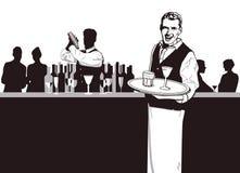 Σερβιτόρος και Bartender ελεύθερη απεικόνιση δικαιώματος
