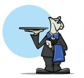 Σερβιτόρος σκυλιών ελεύθερη απεικόνιση δικαιώματος