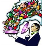 σερβιτόρος deco τέχνης Ελεύθερη απεικόνιση δικαιώματος