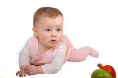 σερνμένος κορίτσι μωρών Στοκ εικόνες με δικαίωμα ελεύθερης χρήσης