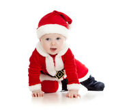 Σερνμένος μικρό παιδί αγορακιών Άγιου Βασίλη Στοκ Φωτογραφίες