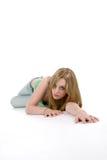 σερνμένος πάτωμα φωτογραφικών μηχανών προς τη γυναίκα Στοκ Φωτογραφίες