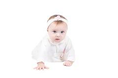 σερνμένος όψη κοριτσιών πατωμάτων μωρών πλάγια αρκετά Στοκ Φωτογραφία