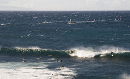 Σερφ στη Χαβάη Στοκ Φωτογραφίες