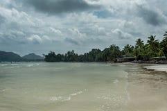 Σεϋχέλλες Όμορφη παραλία Anse Volbert Στοκ Εικόνες