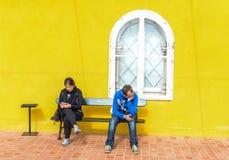 Σε έναν πάγκο - παλάτι Pena Στοκ φωτογραφία με δικαίωμα ελεύθερης χρήσης