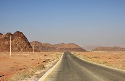 Σε έναν τρόπο στο ρούμι Wadi Στοκ εικόνα με δικαίωμα ελεύθερης χρήσης