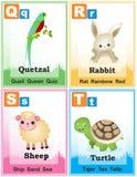 Σελίδα 5 βιβλίων εκμάθησης αλφάβητου απεικόνιση αποθεμάτων