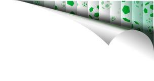 Σελίδα εγγράφου με το σχέδιο σφαιρών Fotball στην μπούκλα Στοκ εικόνα με δικαίωμα ελεύθερης χρήσης