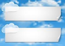 Σελίδα 8 8 Πρότυπο με τα άσπρα σύννεφα τελών μπλε ουρανού Στοκ Εικόνα