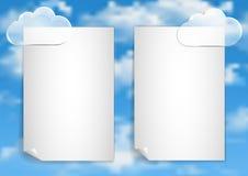 Σελίδα 4 8 Πρότυπο με τα άσπρα σύννεφα τελών μπλε ουρανού Στοκ φωτογραφίες με δικαίωμα ελεύθερης χρήσης