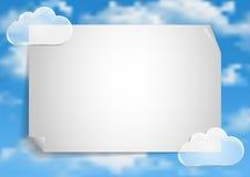 Σελίδα 2 8 Πρότυπο με τα άσπρα σύννεφα τελών μπλε ουρανού Στοκ εικόνα με δικαίωμα ελεύθερης χρήσης