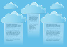 Σελίδα 2 5 Πρότυπο με τα αφηρημένα σύννεφα τελών μπλε ουρανού Στοκ Εικόνα