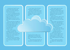 Σελίδα 3 5 Πρότυπο με τα αφηρημένα σύννεφα τελών μπλε ουρανού Στοκ εικόνες με δικαίωμα ελεύθερης χρήσης